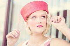 Vintage, Woman, Pretty, Glamorous Royalty Free Stock Photography