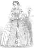 Vintage woman's fashion illustration royalty free stock photos