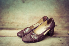 Vintage woman shoes Royalty Free Stock Images