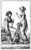 Vintage women fashion illustrated, Berlin 1803 Stock Photography