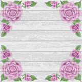 Vintage wood background with roses Royalty Free Stock Photography