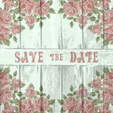 Vintage wood background with roses Stock Photo