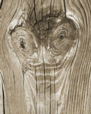 Vintage Wood Board Background Funny Face stock image