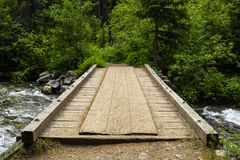 Vintage Wood Bridge Royalty Free Stock Photo