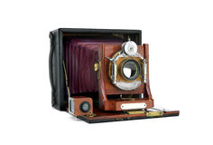 Vintage Wood Camera Stock Image