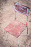 Vintage wood chair for children Stock Images