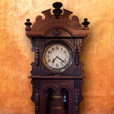 Vintage Wood Clock Royalty Free Stock Images