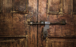 Vintage wood door Royalty Free Stock Images