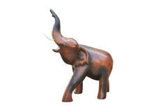 Vintage wood elephant statue Royalty Free Stock Photo