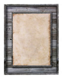Vintage wood frame with paper fill Stock Photography