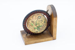 Vintage Wood Globe Earth Royalty Free Stock Photography