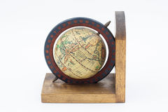 Vintage Wood Globe Earth Stock Images