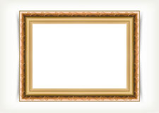 Vintage wood picture frame Stock Image