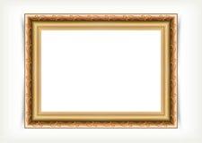 Vintage wood picture frame Stock Image