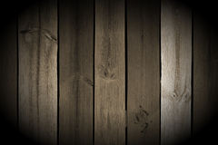 Vintage Wood Planks with Spotlight Stock Photography