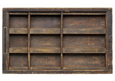 Vintage wood  printer drawer Royalty Free Stock Images