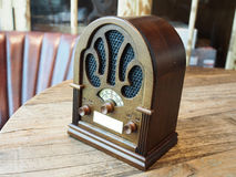 Vintage wood radio Stock Photography