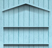 Vintage wood shelf house shape Stock Photo