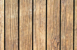 Vintage wood texture with vertical lines. Warm brown wooden background for natural banner. Stock Image