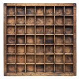 Vintage wood typesetter case Royalty Free Stock Photography