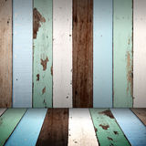Vintage wood wall and floor Stock Image