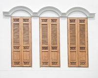 Vintage wood windows Stock Image