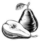 Vintage Woodcut Pears Royalty Free Stock Image