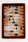 Vintage wooden abacus isolated. Account machine for calculation. Economics and budget Stock Photography