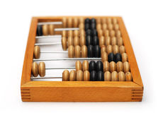 Vintage wooden Abacus isolated on a white Stock Photography