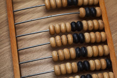 Vintage wooden abacus on the table Stock Images