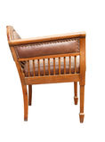 Vintage wooden armchair isolated on the white background royalty free stock photography