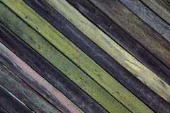 Vintage wooden background.  Оld multicolored boards. Texture. Stock Photography