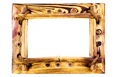 Vintage wooden bamboo frame Royalty Free Stock Images