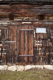 Vintage wooden barn door Stock Image
