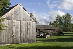 Vintage wooden barns Stock Photography