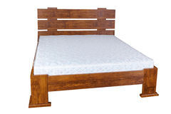 Vintage wooden bed Stock Photo