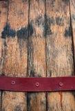 Vintage wooden beer barrel background. Close up of Vintage wooden beer barrel background Stock Photo