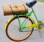 Vintage wooden bicycle boot Royalty Free Stock Photography