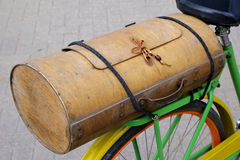 Vintage wooden bicycle boot Stock Photography