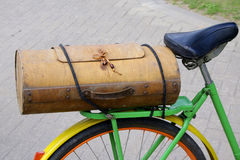 Vintage wooden bicycle boot Stock Photo
