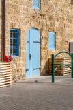 Vintage wooden double door in Old Jaffa, Israel Stock Images