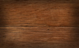 Vintage wooden board with cracks, checks and shaded border Royalty Free Stock Image