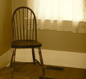 Vintage Wooden Bow Back Chair In Sepia Stock Images