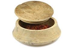 Saffron threads stock images
