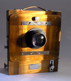 Vintage wooden box camera Stock Photo