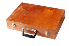 Vintage wooden box isolated Stock Photos
