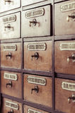 Vintage wooden boxes for medications Royalty Free Stock Photography