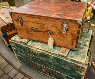 Vintage Wooden Boxes Stock Image