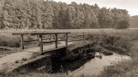 Vintage Wooden Bridge Stock Photography