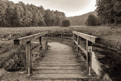 Vintage Wooden Bridge Royalty Free Stock Image